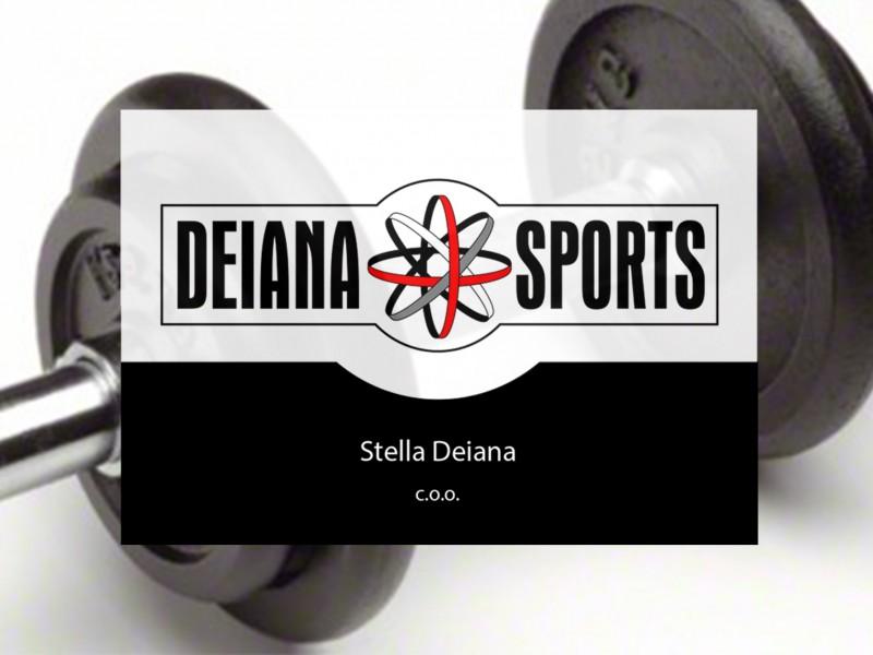 Brandaris vormgeving portfolio Deiana sports visitekaart huisstijl