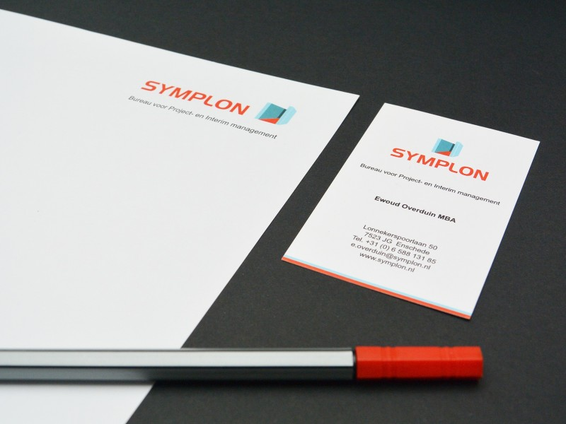 Brandaris vormgeving portfolio Symplon bureau voor project- en intrim management huisstijl